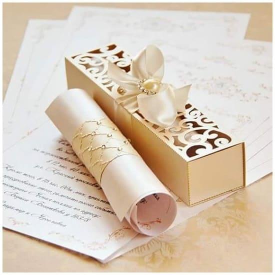 Convite de casamento chique e luxuoso