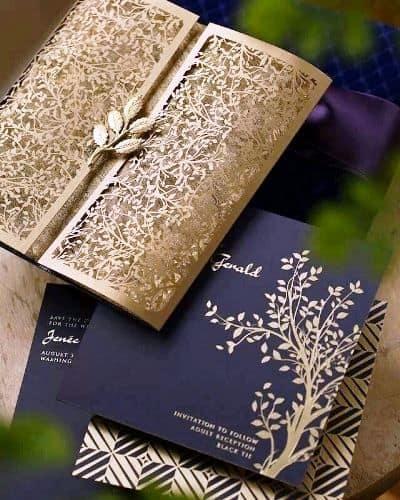 Convite de casamento chique