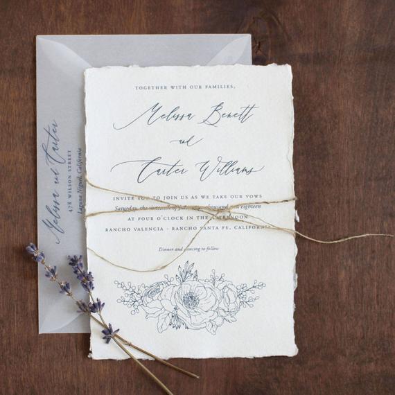 Convite de casamento com cordão de sisal25