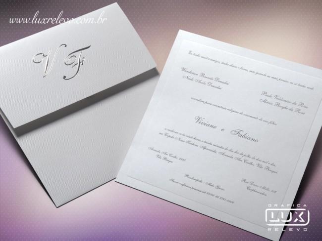 Convite de casamento em papel Aspen Linear11