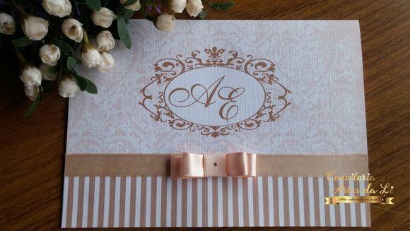 Convite de casamento em papel Evenglow Linear10