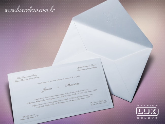 Convite de casamento em papel markatto finezza6