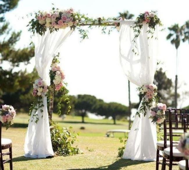 Decoração de casamento de dia