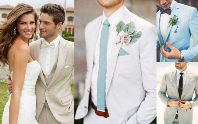 Estilos de ternos para noivos se casarem de dia