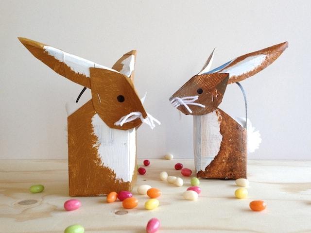 Lembrancinha de Páscoa feita com caixa de leite