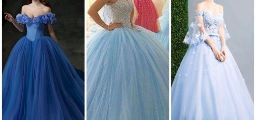 Modelos de vestido de noiva azul 2