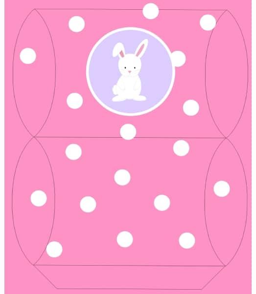 Molde de caixa rosa de Páscoa