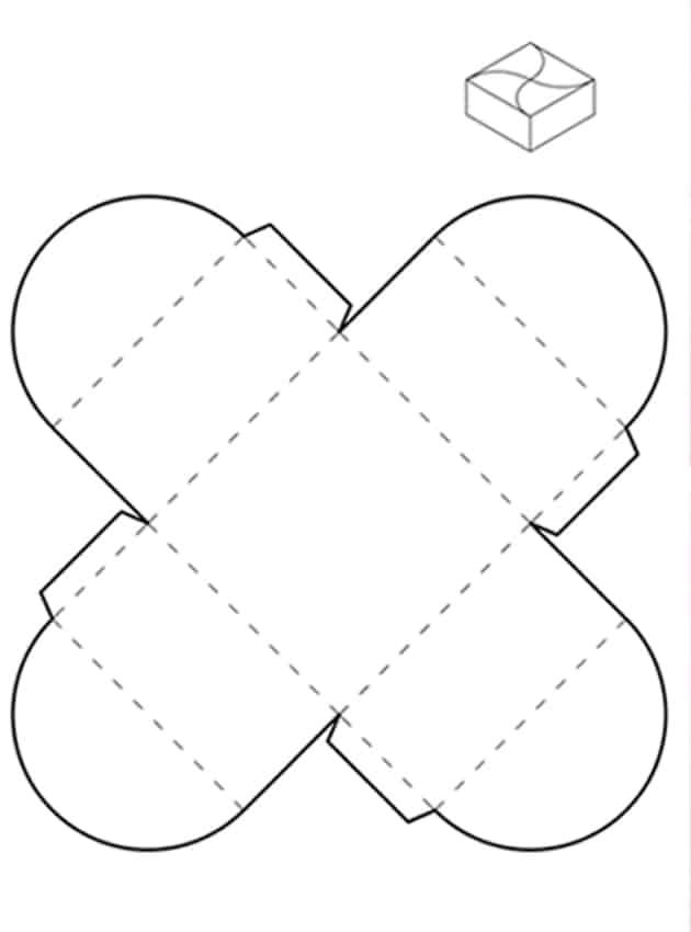 Molde de caixinha de papel