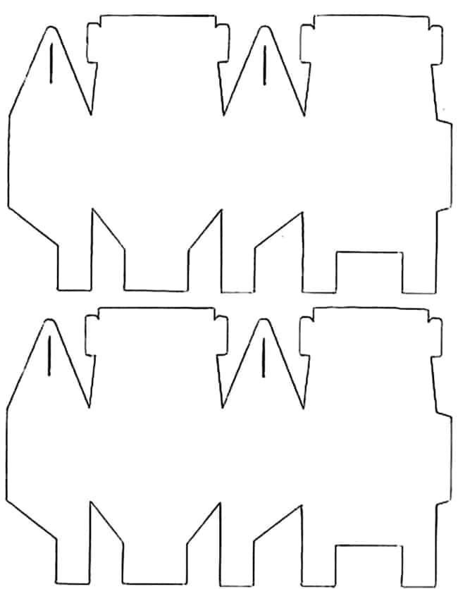 Molde para caixinha artesanal de Páscoa