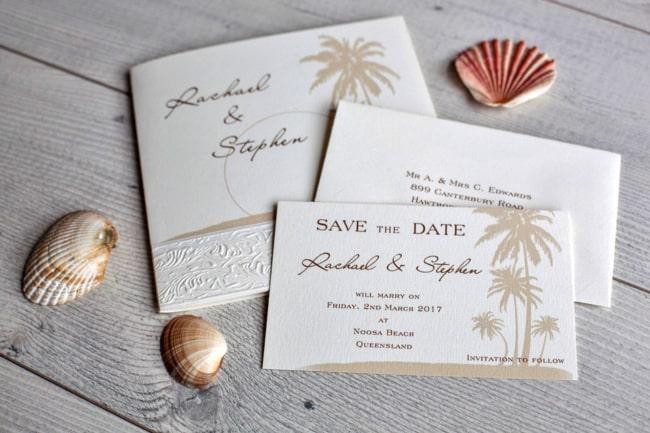 Save the date casamento na praia ideias
