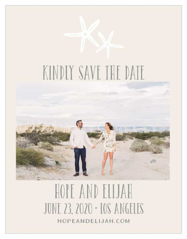 Save the date casamento praia