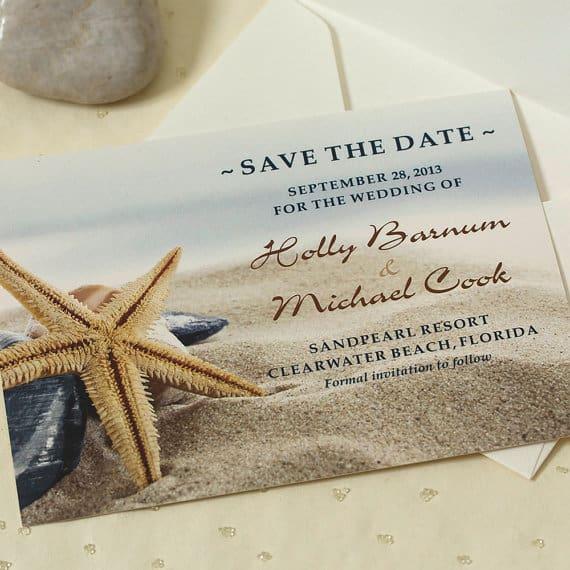 Save the date casamento praiano