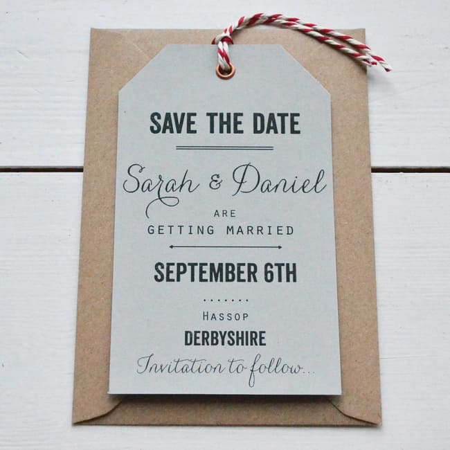 Save the date impresso bonito