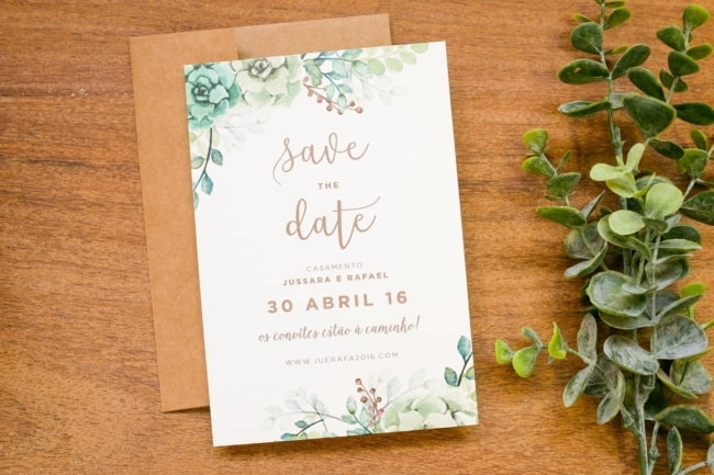 Save the date impresso simples