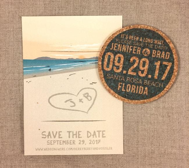 Save the date para casamento na praia