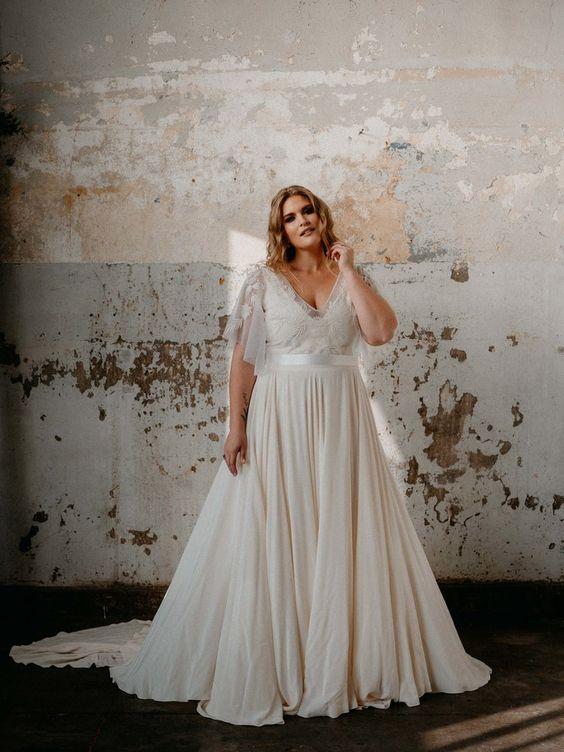 Veja que vestido lindíssimo para noiva plus size