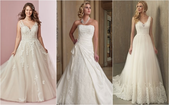 Vestido de noiva evasê 3