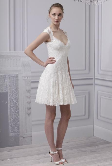 Vestido evasê para noivas baixinhas