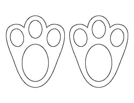 como desenhar patinhas de coelho