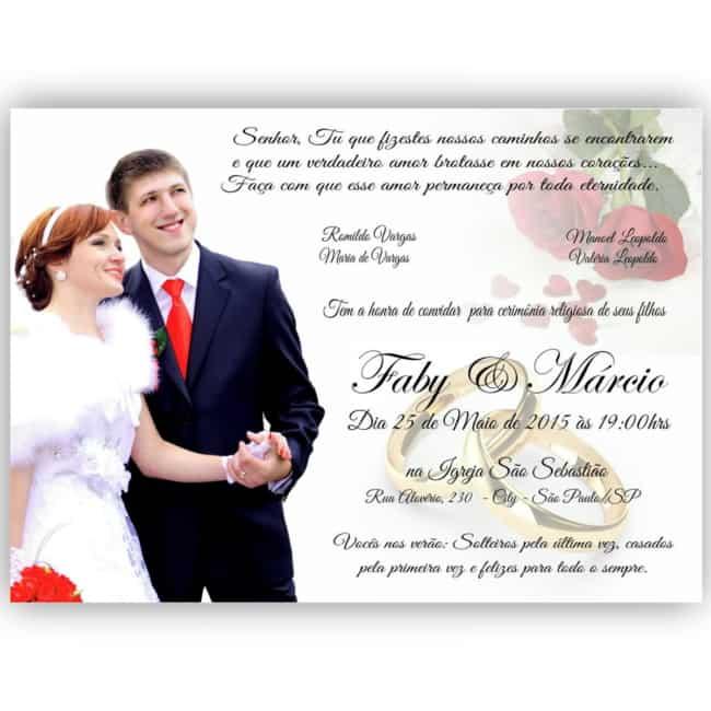 dica de Convite de casamento com foto
