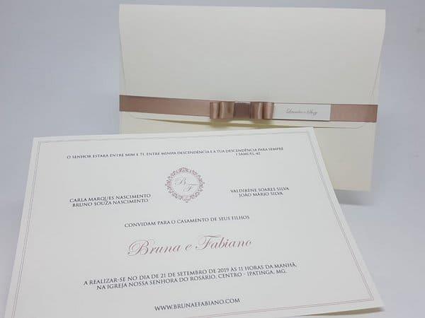 dicas de Convite de casamento clássico