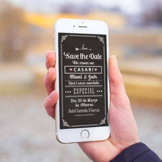 estilos de Save the date digital