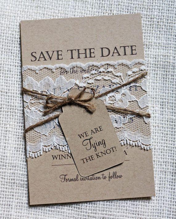 estilos de Save the date rústico
