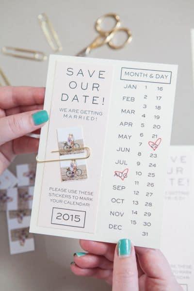 ideia de Save the date impresso