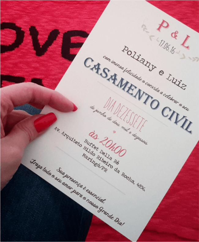 ideias de Convite de casamento civil