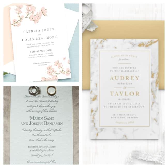 ideias de convite de casamento