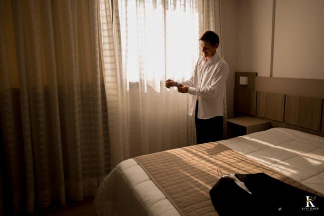 ideias de making of do noivo em hotel 1