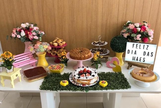 mesa para dia das mães para empresa