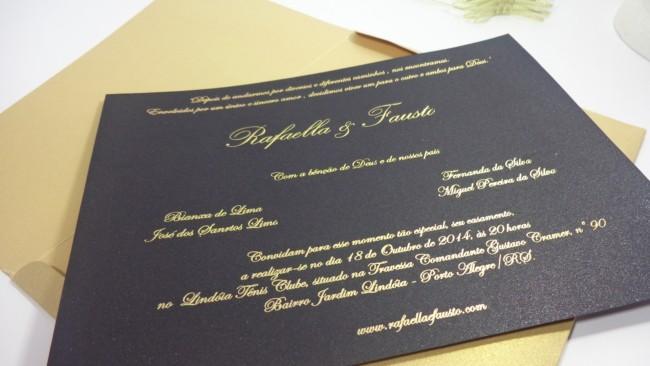 modelo de Convite de casamento preto