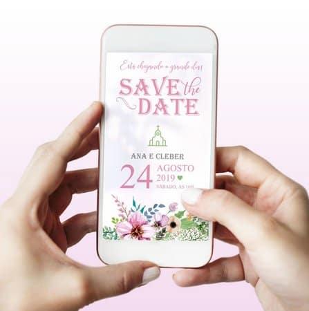 modelos de Save the date digital