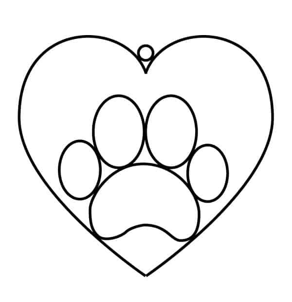 patinhas de coelho com coração
