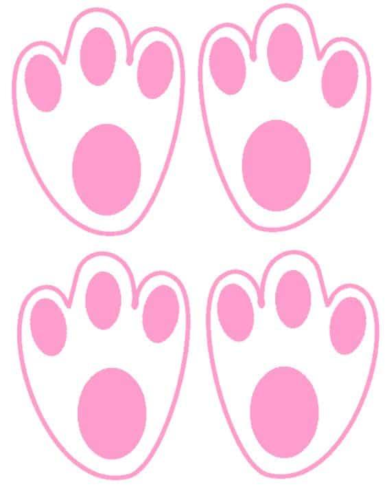 patinhas de coelho pequenas