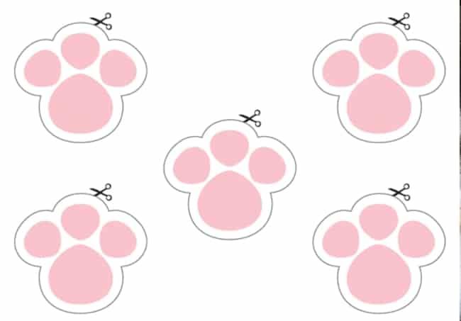 patinhas de coelho rosa para cortar