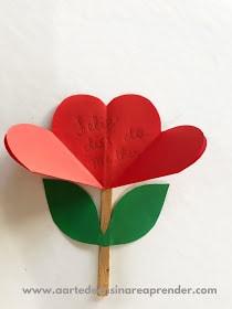 cartão de flor de dobradura para dia das mães