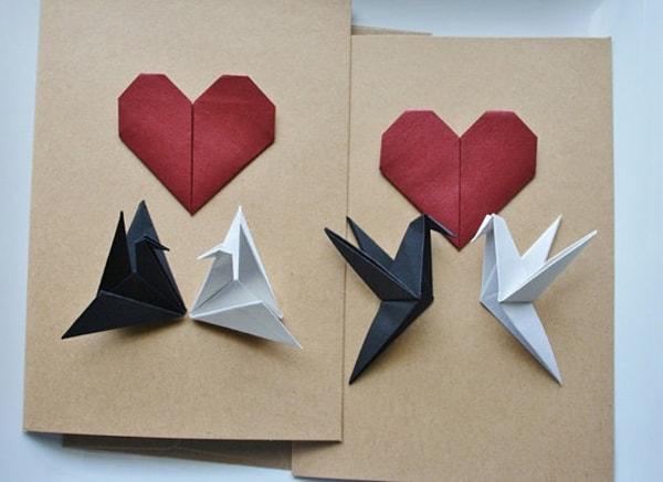 cartão de origami para dia das mães