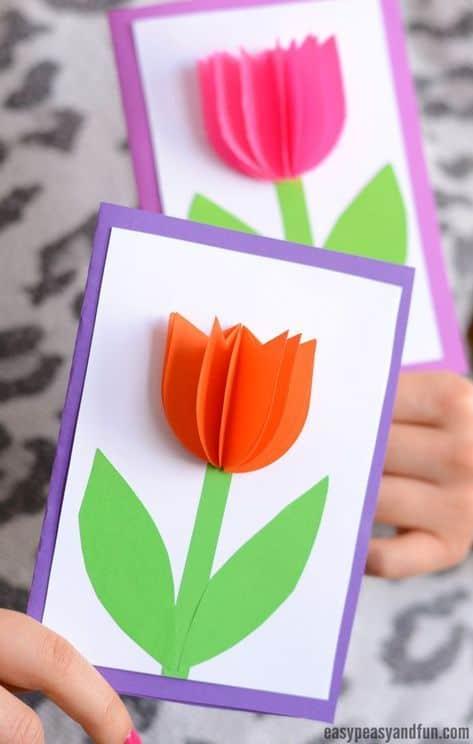 cartão simples e 3D dia das mães
