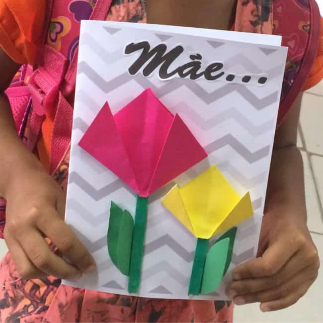 cartão decorado com dobradura