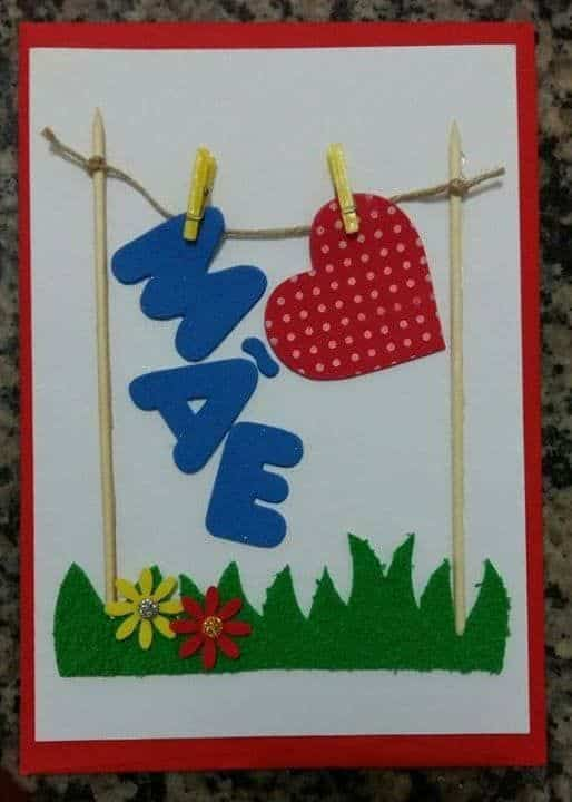 cartão criativo dia das mães