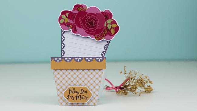 modelo de cartão criativo dia das mães