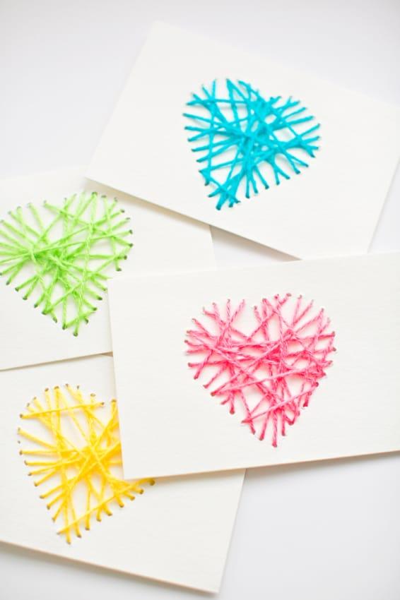 cartão decorado com linha para dia das mães