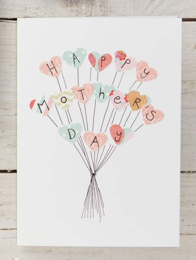 cartão simples e fácil para dia das mães