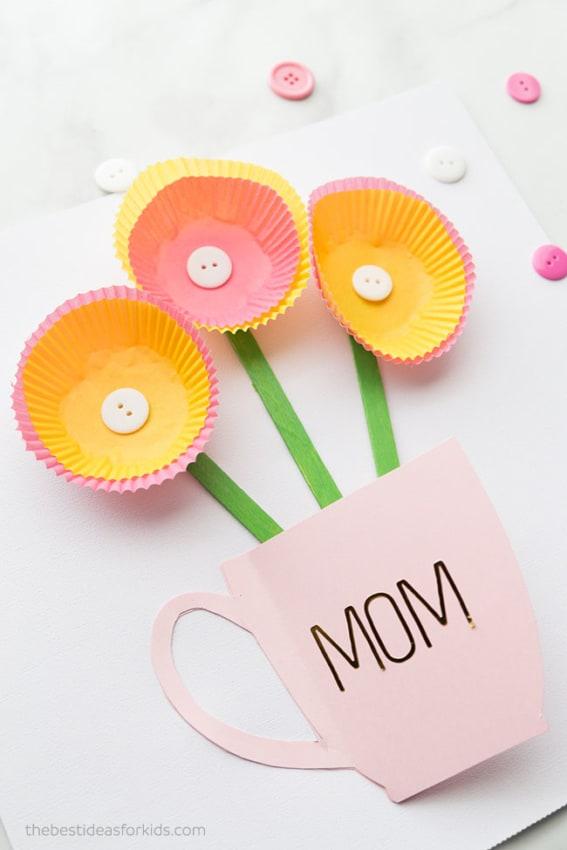 DIY cartão barato dia das mães
