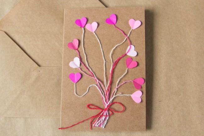 cartão simples e criativo para dia das mães
