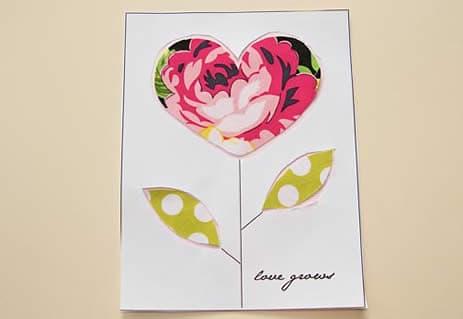 cartão fácil de fazer dia das mães