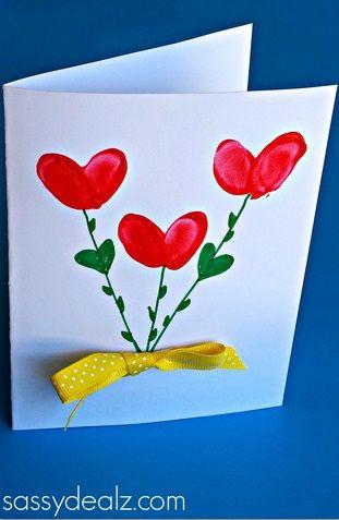 cartão pintado para dia das mães