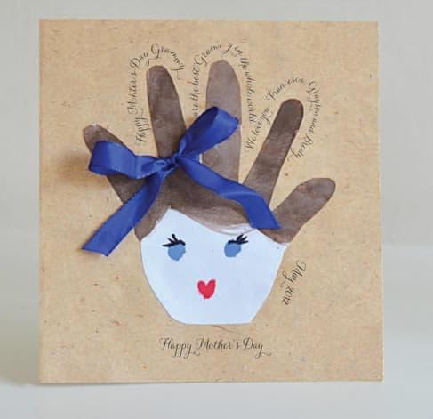 cartão infantil para dia das mães
